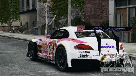 BMW Z4 GT3 2010 для GTA 4 вид сверху