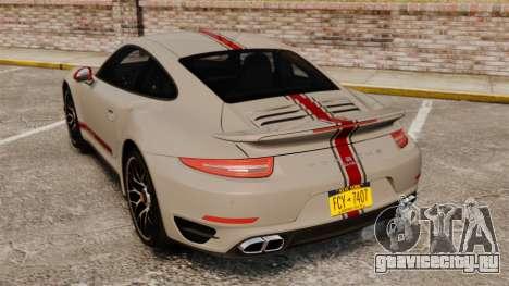 Porsche 911 Turbo 2014 [EPM] TechArt Design для GTA 4 вид сзади слева