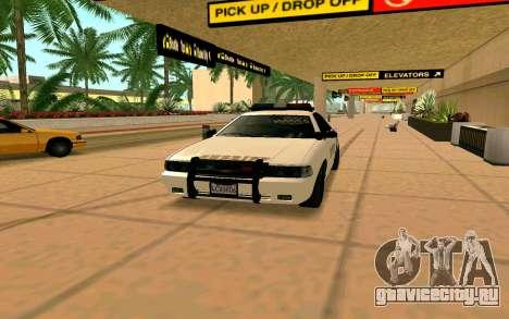 GTA V Sheriff Cruiser для GTA San Andreas вид сзади слева