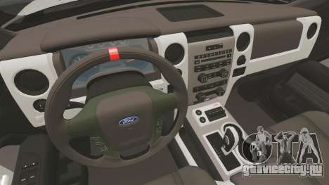 Ford SVT Raptor 2012 для GTA 4 вид изнутри