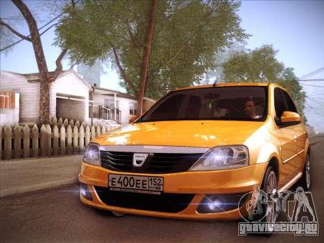 Dacia Logan GrayEdit для GTA San Andreas вид сбоку