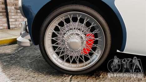 Austin-Healey 3000 Mk III 1965 для GTA 4 вид сзади