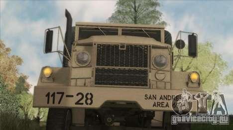 AM General M35A2 1950 для GTA San Andreas вид изнутри