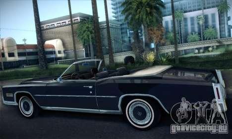 Cadillac Eldorado 1978 Convertible для GTA San Andreas вид справа
