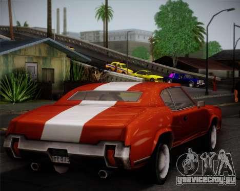 Sabre Turbo для GTA San Andreas вид изнутри