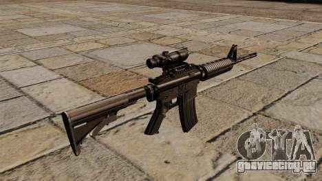 Автоматический карабин M4A1 ACOG для GTA 4 второй скриншот