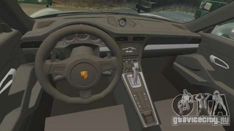 Porsche 911 Turbo 2014 [EPM] Ghosts для GTA 4 вид изнутри