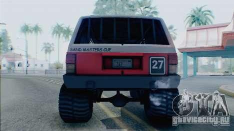 Jeep Cherokee 1984 Sandking для GTA San Andreas вид справа