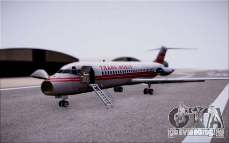 McDonnel Douglas DC-9-10 для GTA San Andreas вид сбоку