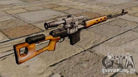 Снайперская винтовка Драгунова S.T.A.L.K.E.R. для GTA 4 второй скриншот