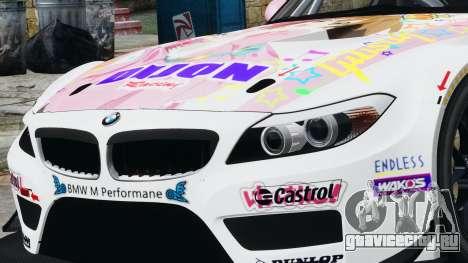 BMW Z4 GT3 2010 для GTA 4 вид сзади