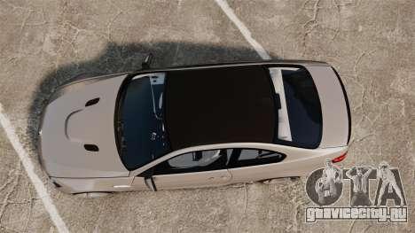 BMW M3 E92 2008 для GTA 4 вид справа