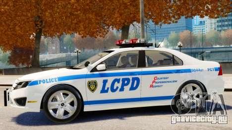 Ford Fusion LCPD 2011 [ELS] для GTA 4 вид сзади слева