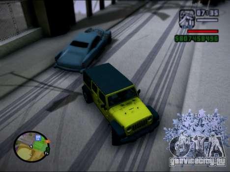Jeep Wrangler Unlimited 2007 для GTA San Andreas вид слева