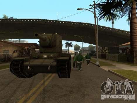 КВ-2 для GTA San Andreas вид сзади
