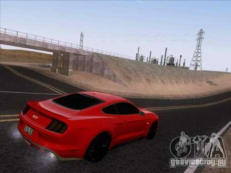 Ford Mustang GT 2015 для GTA San Andreas вид снизу