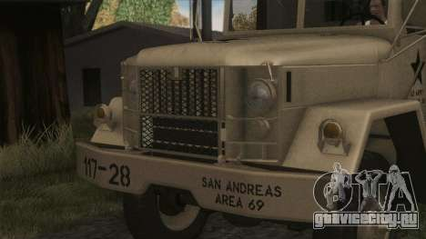 AM General M35A2 1950 для GTA San Andreas вид сзади