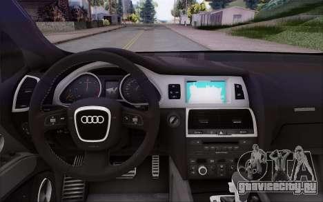 Audi Q7 Winter для GTA San Andreas вид справа