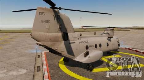 Boeing CH-46D Sea Knight для GTA 4 вид сзади слева
