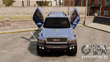 GMC Tough Guy для GTA 4 вид изнутри