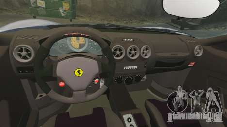 Ferrari F430 Scuderia 2007 для GTA 4 вид изнутри