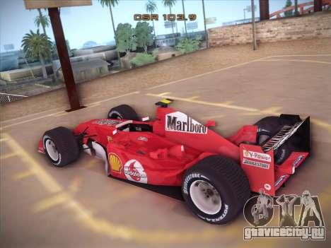 Ferrari F1 2005 для GTA San Andreas вид сзади слева