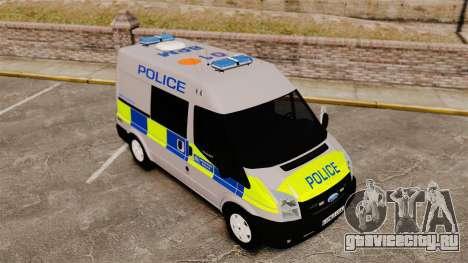 Ford Transit 2013 Police [ELS] для GTA 4 вид изнутри