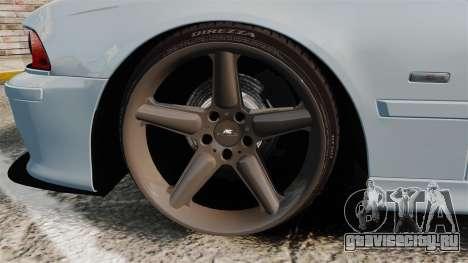 BMW M5 E39 2003 для GTA 4 вид сзади