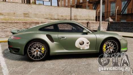 Porsche 911 Turbo 2014 [EPM] Ghosts для GTA 4 вид слева