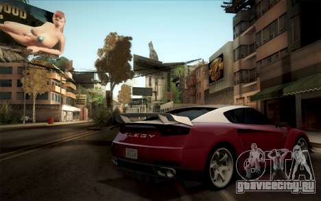 Elegy RH8 from GTA V для GTA San Andreas вид справа