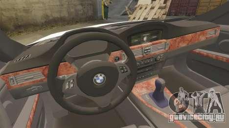 BMW 350i NYPD [ELS] для GTA 4 вид сбоку