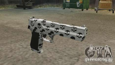 Пистолет Desert Eagle Skull для GTA 4