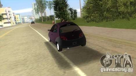 Ford Ka для GTA Vice City вид сзади