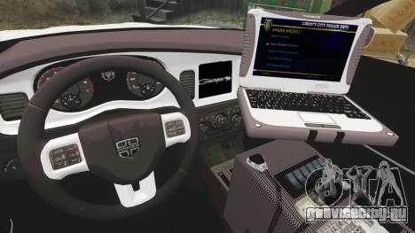 Dodge Charger 2012 LCPD [ELS] для GTA 4 вид сзади