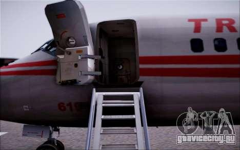 McDonnel Douglas DC-9-10 для GTA San Andreas вид снизу