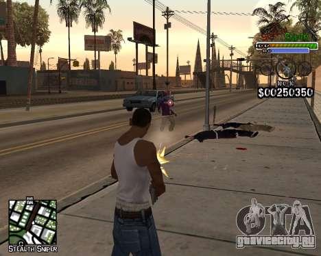 C-HUD by Stealth Sniper для GTA San Andreas второй скриншот