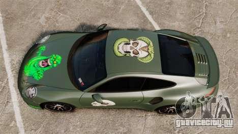 Porsche 911 Turbo 2014 [EPM] Ghosts для GTA 4 вид справа