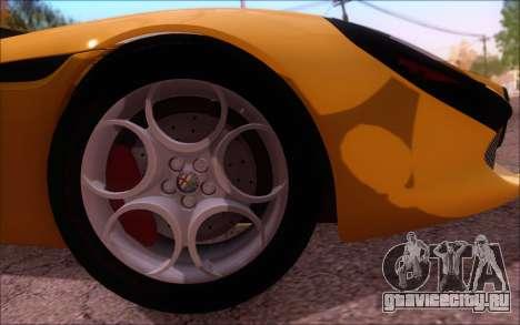 Alfa Romeo TZ3 2011 для GTA San Andreas вид изнутри