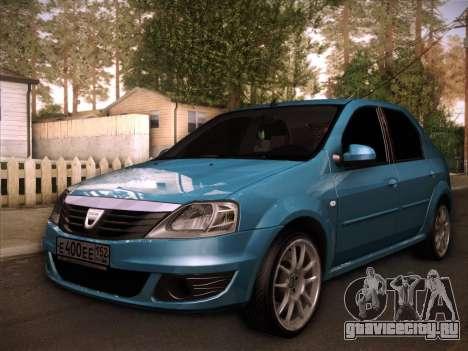 Dacia Logan GrayEdit для GTA San Andreas