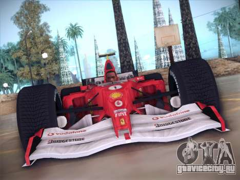 Ferrari F1 2005 для GTA San Andreas вид изнутри