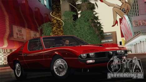 Alfa Romeo Montreal (105) 1970 для GTA San Andreas вид сбоку