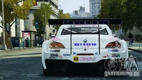 BMW Z4 GT3 2010 для GTA 4 колёса