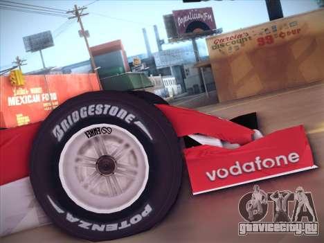 Ferrari F1 2005 для GTA San Andreas вид справа