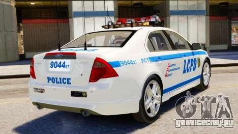 Ford Fusion LCPD 2011 [ELS] для GTA 4 вид слева