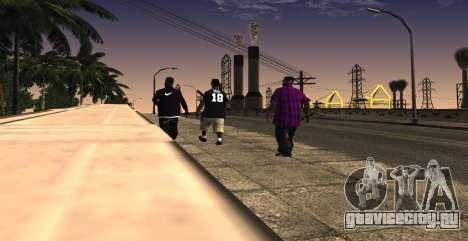 HQ SkinPack Ballas для GTA San Andreas третий скриншот