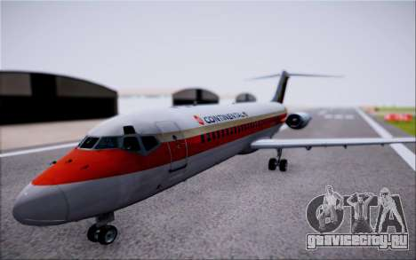 McDonnel Douglas DC-9-10 для GTA San Andreas вид сзади слева