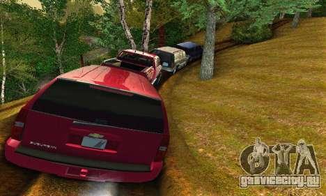 Chevrolet Suburban 2008 для GTA San Andreas вид сзади
