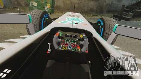 Mercedes AMG F1 W04 v6 для GTA 4 вид изнутри