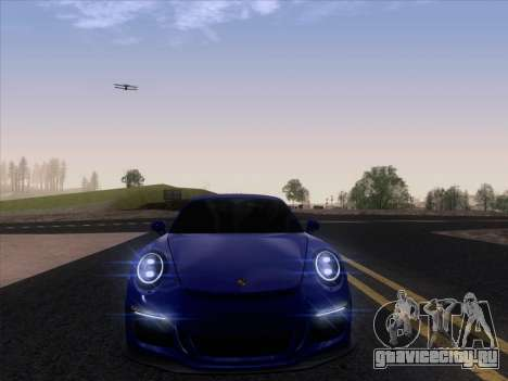 Porsche 911 GT3 2014 для GTA San Andreas вид сзади