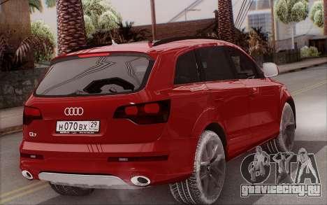 Audi Q7 Winter для GTA San Andreas вид слева